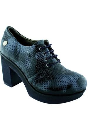 Mammamia D16Ya-3160 Deri Kadın Ayakkabı Lacivert