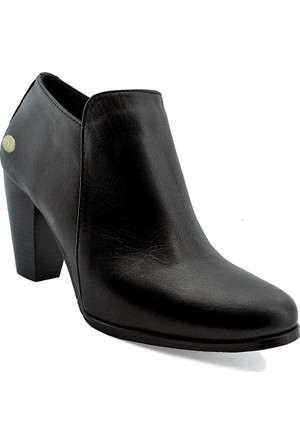 Mammamia D16Ya-3660 Deri Kadın Ayakkabı Siyah