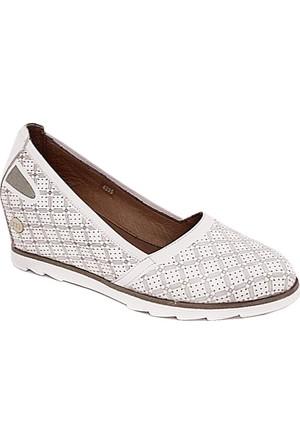 Mammamia D17Ya-4295 Deri Gizli Dolgu Ayakkabı Beyaz