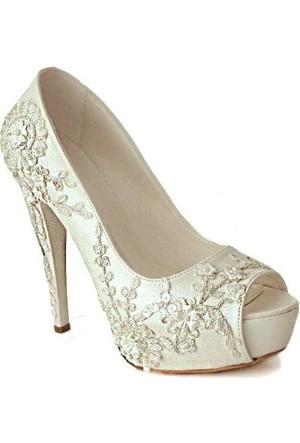 Ayakkabimcantam 3411 Topuklu Kadın Ayakkabı Sedef