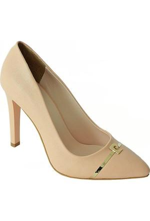 Pierre Cardin 45339 Sivri Burun Kadın Ayakkabı Pudra