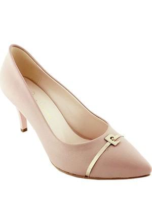 Pierre Cardin 45342 Sivri Burun Kadın Ayakkabı Pudra
