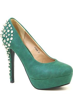 Joanne 06 Topuklu Kadın Ayakkabı Yesıl