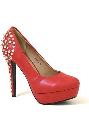 Joanne 06 Topuklu Kadın Ayakkabı Kırmızı