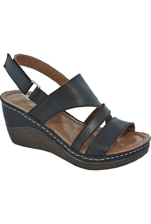 Gessı 1072 Deri Kadın Sandalet Siyah