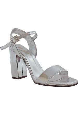 Beauty 82 Kadın Bantlı Ayakkabı Gümüş
