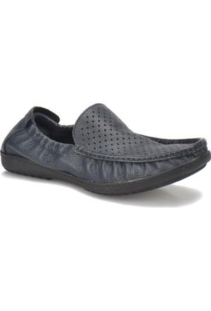 Flogart 110-1 M 1493 Lacivert Erkek Deri Klasik Ayakkabı