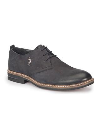 U.S. Polo Assn. Maınz Siyah Erkek Deri Ayakkabı