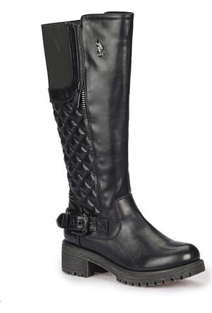 U.S. Polo Assn. Joselyn Siyah Kadın Çizme
