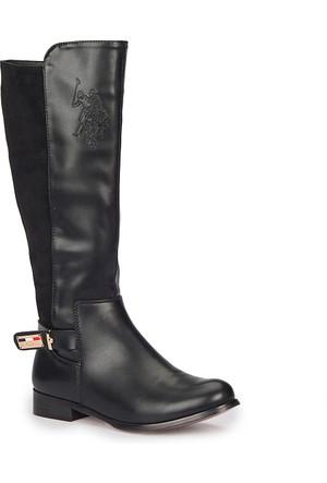 U.S. Polo Assn. Lante Siyah Kadın Çizme