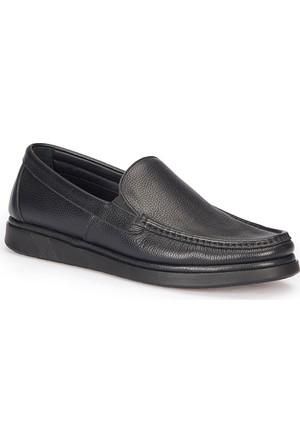 Polaris 5 Nokta 72.110346.M Siyah Erkek Deri Loafer Ayakkabı