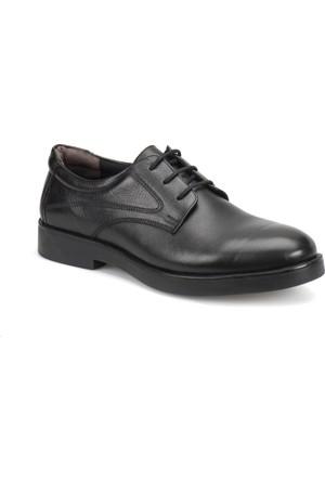 Polaris 5 Nokta 72.110385.M Siyah Erkek Deri Maskaretli Zımbalı Ayakkabı