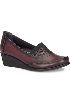 Polaris 5 Nokta 72.110011.Z Bordo Kadın Anne Ayakkabısı