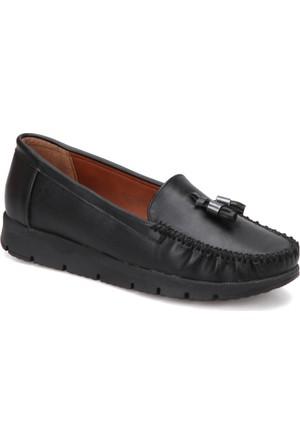 Polaris 72.158014Cz Siyah Kadın Loafer Ayakkabı