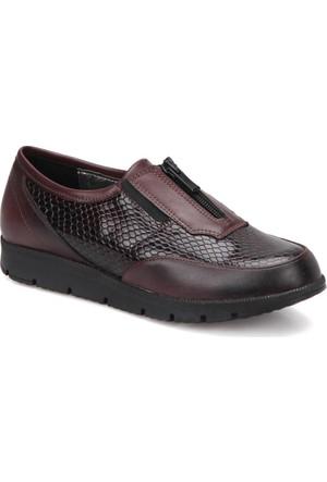 Polaris 72.158089.Z Bordo Kadın Dolgu Topuk Ayakkabı