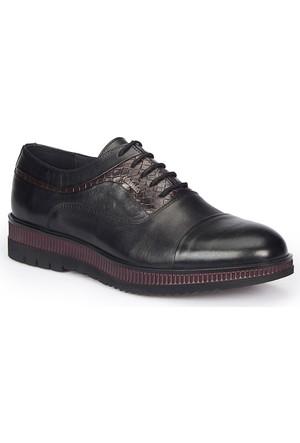 Mercedes Tewod Siyah Erkek Deri Ayakkabı