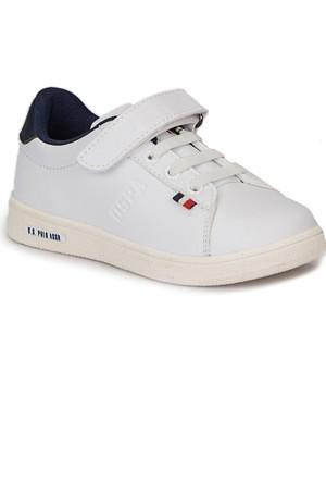 U.S. Polo Assn. Franco Beyaz Unisex Çocuk Ayakkabı