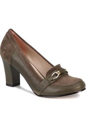 Miss F Dw17010 Haki Kadın Basic Dress Ayakkabı
