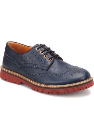 Garamond 51573-4 Lacivert Erkek Deri Ayakkabı