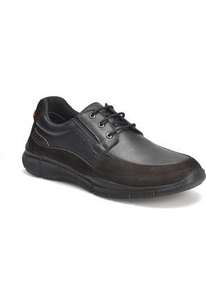 Flogart 1055-1 M 1494 Siyah Erkek Deri City Ayakkabı