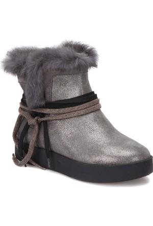 Butigo 2867/11-17Sk Gri Kadın Deri Ayakkabı