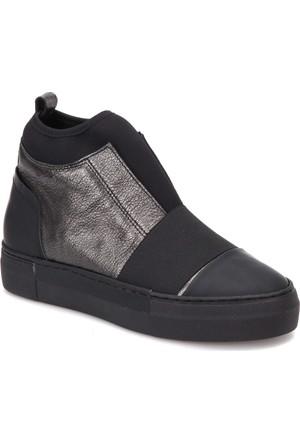 Butigo 2886/19-17Sk Siyah Kadın Deri Ayakkabı