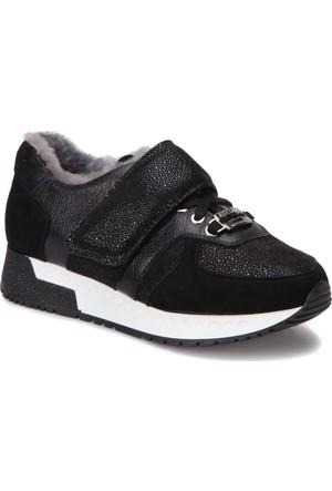 Butigo 317/06-17Sk Siyah Kadın Deri Ayakkabı