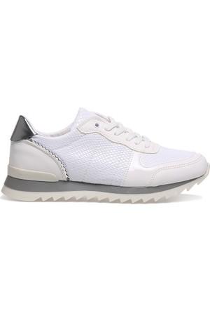 Crash 63-55 Beyaz Piton Desenli Günlük Bayan Ayakkabı