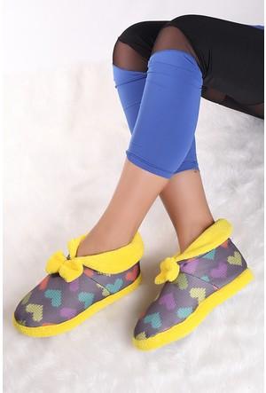 Pembe Potin Sarı Ev Ayakkabısı