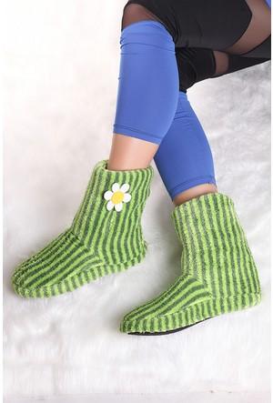 Pembe Potin Yeşil Ev Ayakkabısı