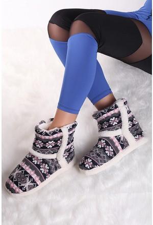Pembe Potin Pudra Ev Ayakkabısı