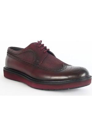 Yeystore Boretto 89 Erkek Deri Klasik Ayakkabı Bordo