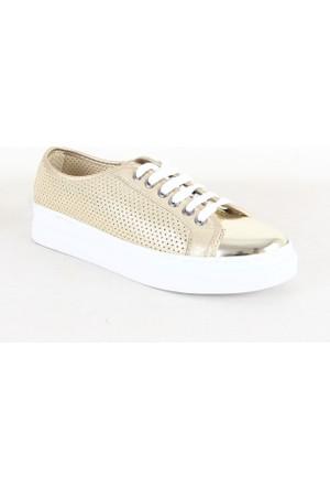 Wanetti 4209 Bayan Zımbalı Günlük Ayakkabı Dore