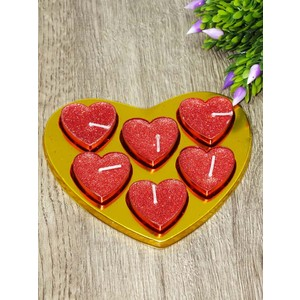 kitchen love 6 adet simli kalp tlight mum