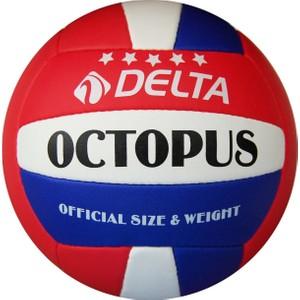 delta octopus el dikişli voleybol topu - kırmızı - mavi