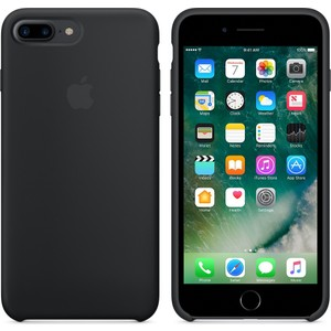 apple iphone 8 plus - iphone 7 plus silikon kılıf - siyah - mmqr2zm a apple türkiye garantili