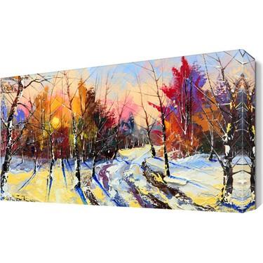 Dekor Sevgisi Ağaçlar Kış Manzara Tablosu 45x30 cm Fiyatı