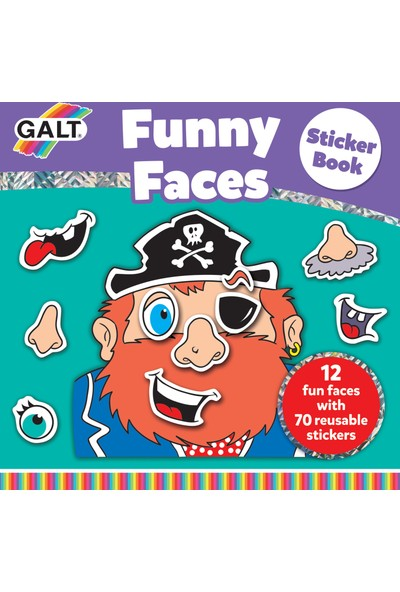 Funny Faces Sticker Book 3 Yaş+