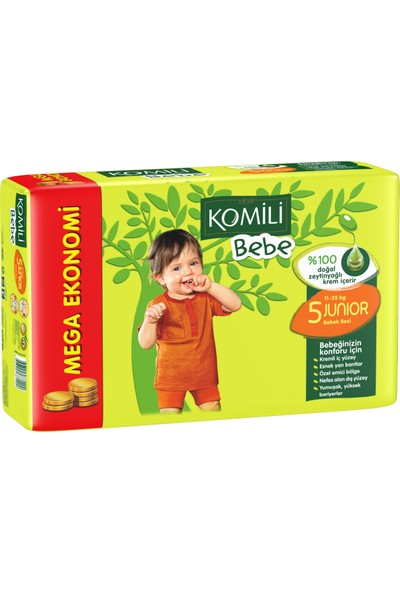 Komili Bebe Bebek Bezi 5 Beden Jumbo Paket 32 Adet