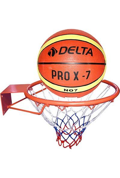 Delta Deluxe Basketbol Çemberi + Basketbol Topu Ve Filesi