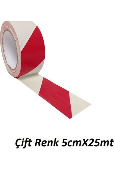 Gliptone Carat Reflektif Çift Renk 5cmX25mt Kırmızı/Beyaz
