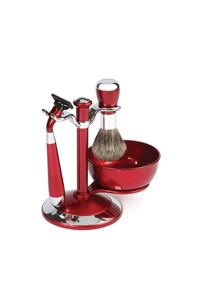 Lionesse Tıraş Fırça Seti 9013 Metalik Kırmızı