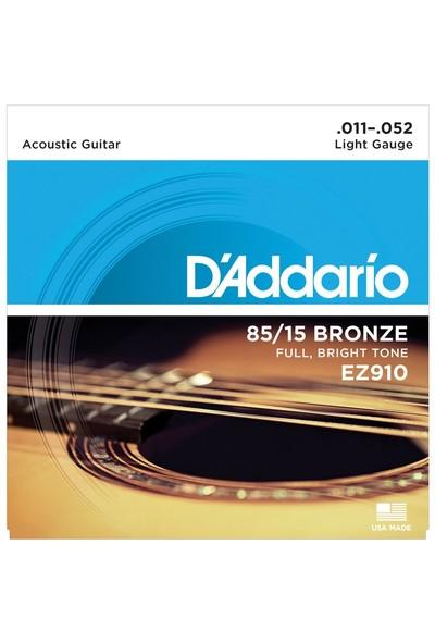 Daddario Ez910 Akustik Tel Set Light (.011) Z910