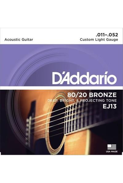 Daddarıo Ej13 011-052 Akustik Gitar Teli 80/20 Brz Cst Lite