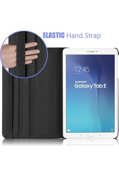 Samsung Galaxy Tab 4 10.1'' T530 360 Dönebilen Siyah Stand Kılıf
