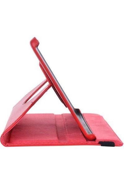 Samsung Galaxy Tab 4 T230 360 Dönebilen Kırmızı Stand Kılıf