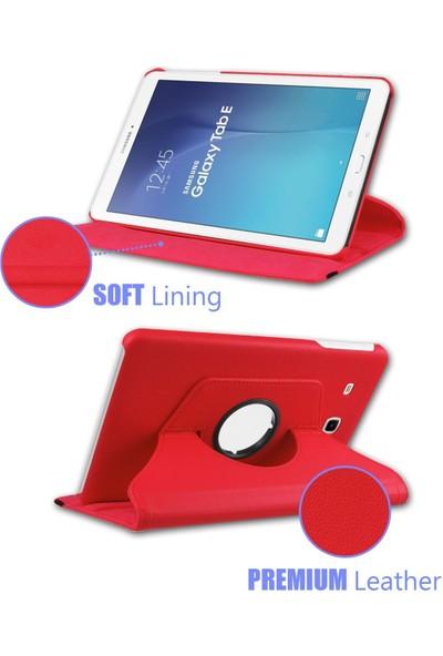 Samsung Galaxy Tab Pro T320 360 Dönebilen Kırmızı Stand Kılıf
