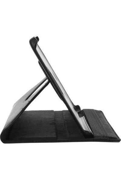 Samsung Galaxy Tab S T700 360 Dönebilen Siyah Stand Kılıf
