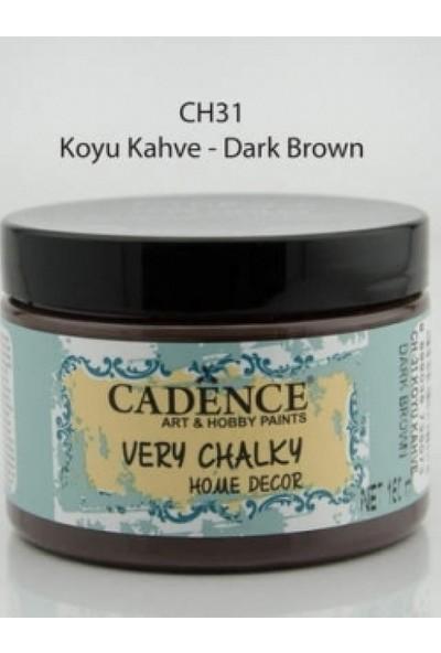 Cadence Very Chalky Home Decor Mobilya Boyası 150ml KOYU KAHVE