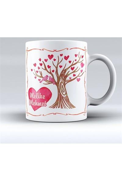 BuldumBuldum Aşk Ağacı Kupa Bardak - Beyaz Kupa
